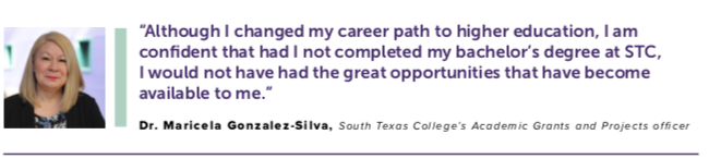Dr. Maricela Gonzalez-Silva, South Texas College's Academic Grants and Projects Officer